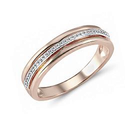 Обручальное кольцо из красного золота Марита с бриллиантами