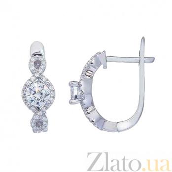 Серебряные серьги Дорога любви AQA--RJ2396-E
