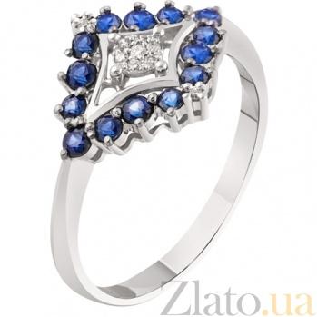 Золотое кольцо с сапфирами Атлантида KBL--К1858/бел/сапф