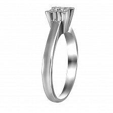 Кольцо из белого золота Мишель с бриллиантами