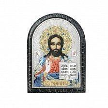 Серебряная икона Христос с позолотой