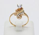 Золотое кольцо с фианитами Грация