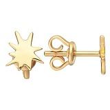 Серьги Карамболь в желтом золоте