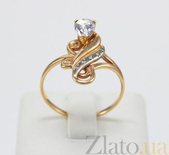 Золотое кольцо с фианитами Грация VLN--212-755