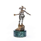 Серебряная статуэтка с позолотой Арлекин
