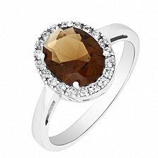Серебряное кольцо с фианитами Алвена