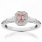 Кольцо Argile из белого золота с бриллиантами и розовыми сапфирами R-cjAr-W-7s-22d