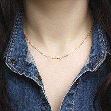 Золотая цепочка Кристал якорного плетения