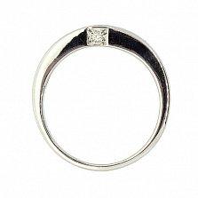 Серебряное кольцо с бриллиантом Панайота