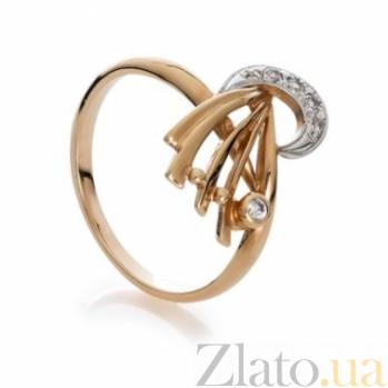 Золотое кольцо с цирконием Вьюга 000030628