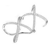 Серебряное бандажное кольцо с фианитами Лондон