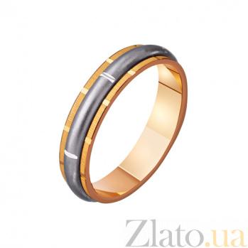 Золотое обручальное кольцо Квинтэссенция стиля TRF--421117