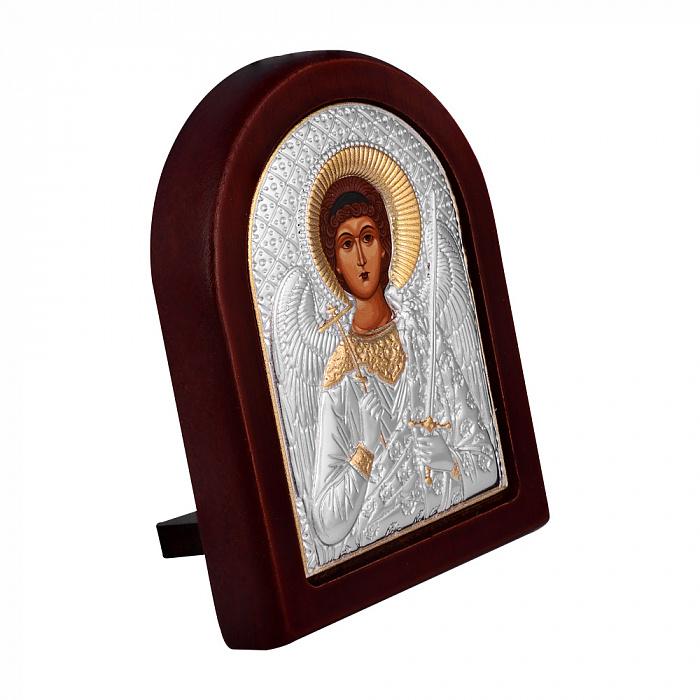 Икона Ангел Хранитель с серебрением и позолотой на деревянной основе 000131703 000131703