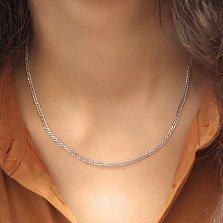 Серебряная родированная цепочка Рембо с гранью, 2.5мм