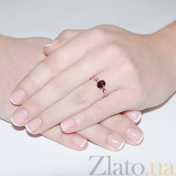 Кольцо из красного золота с гранатом и бриллиантами Ария TRF--1121416н/гранат