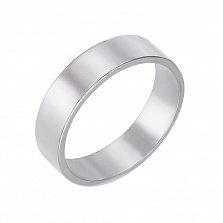 Кольцо обручальное из белого золота Классический стиль