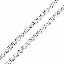 Серебряная цепочка Клермонт в плетении бисмарк, 2,5 мм