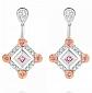 Серьги Argile с бриллиантами и розовыми сапфирами E-cjAr-W/R-10s-26d
