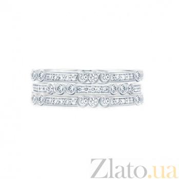 Золотое кольцо с бриллиантами Нью-Йорк 000029842