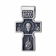 Крест из серебра Архангел Михаил