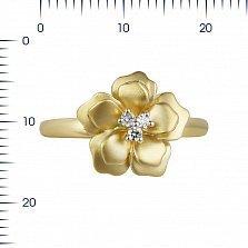 Кольцо из желтого золота Маргарита с бриллиантами