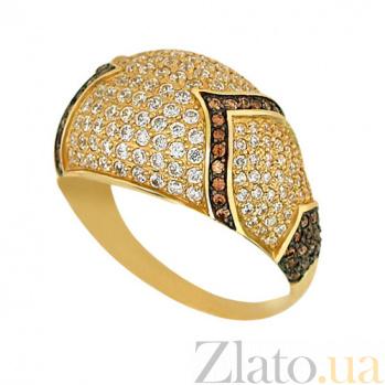 Кольцо из желтого золота Агата с фианитами VLT--ТТ1029-1
