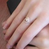 Золотое кольцо Магический завиток с цирконием