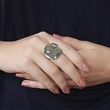 Серебряное кольцо Луна Голубь Мира