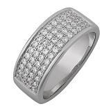 Серебряное кольцо с фианитами Анджела