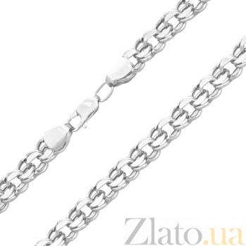 Серебряная цепочка Вилар с алмазной насечкой, 3,5мм 000015007