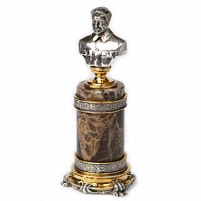 Серебряная статуэтка бюст Сталин