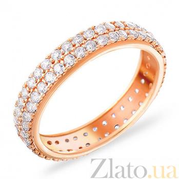 Обручальное кольцо из золота с фианитами Манящий блеск SUF--140369