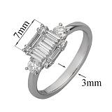 Кольцо из белого золота с бриллиантами Деметрия