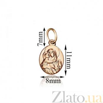 Золотая ладанка Владимирская Божья Матерь EDM--П0154