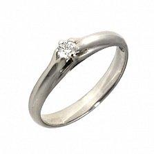 Золотое кольцо с бриллиантом Данелия