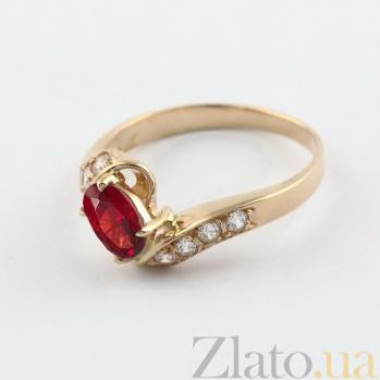 Золотое кольцо Соблазн с гранатом и фианитами VLN--112-1117-3
