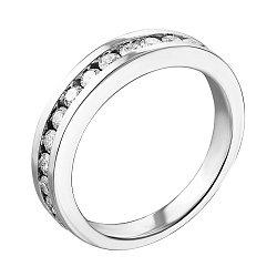 Кольцо из белого золота с бриллиантами 000124862