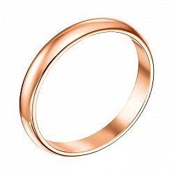 Золотое обручальное кольцо Любовь и верность, 2.5мм