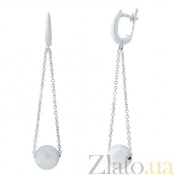Серебряные серьги-подвески Иоланта 000078093