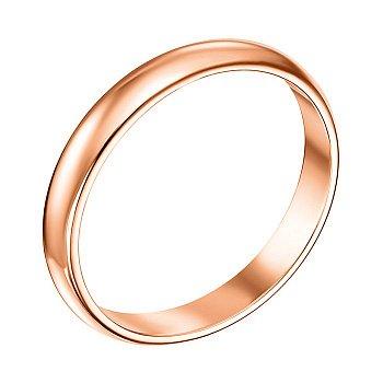 Обручка з червоного золота 000008406, 2.5 мм