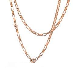 Золотая цепь Baraka Фьюжн фантазийного плетения с белыми фианитами 000068442