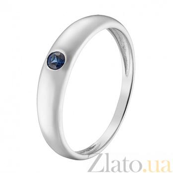 Кольцо в белом золоте Татьяна с сапфиром 000044955