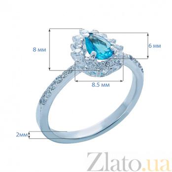Серебряное кольцо с фианитами Глориоза AQA--Щ-704730г