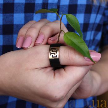 Кольцо из красного золота и каучука Скифия TNG--900626