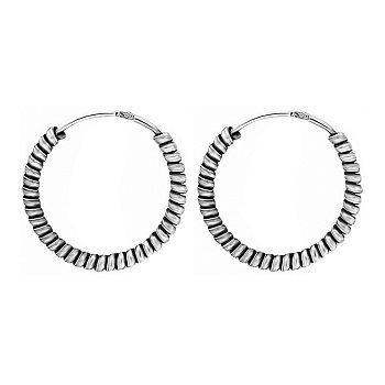 Серебряные серьги-конго, d 18мм 000024694