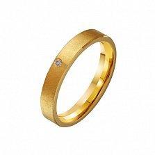 Золотое обручальное кольцо Чудо с цирконием