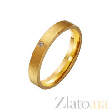 Золотое обручальное кольцо Чудо с цирконием TRF--432225