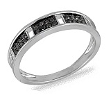 Кольцо Ритм из белого золота с бриллиантами