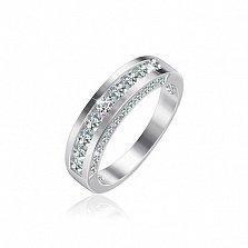Серебряное кольцо с фианитами Александра