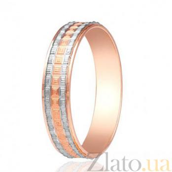 Золотое обручальное кольцо Геометрия любви 000001674